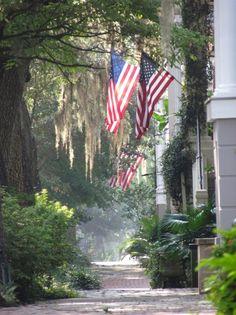 Summer - American flags