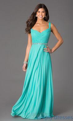 Dress, Sleeveless Floor Length V-Neck Dress by Speechless - Simply Dresses