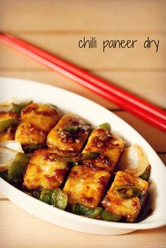 chilli paneer dry recipe – spicy indo chinese starter recipe of dry chili paneer.  #paneer #cottagecheese