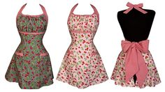 Heavenly Hostess Sweet Cherry Halter Apron from Whitney Miller  So adorable