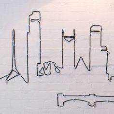 Wire Installation  by tin&ed   난 이런 창의적인 발상이 너무 좋아.