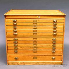 Oak Eleven-drawer File Cabinet | Sale Number 2672M, Lot Number 864 | Skinner Auctioneers