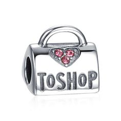 Love To Shop Charm 925 Sterling Silver