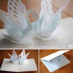Best 12 Gallery 2015 – Kagisippo pop-up – Page 143270831876503036 – SkillOfKing.Love Swan pop up cardBest 12 Birthday gatefold card by cards and paper crafts at splitcoaststampers – Artofit – SkillOfKing. Kirigami Templates, 3d Templates, Pop Up Card Templates, Origami And Kirigami, Paper Crafts Origami, Diy Paper, Pop Up Art, Paper Pop, Paper Flowers Diy