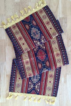 Turcs Anatolian ottoman jacquard kilim motif Runner 220x45 cm cream-navy