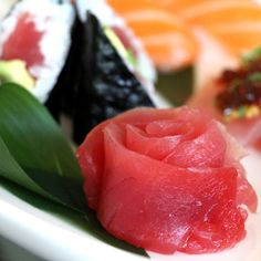 Food or art?  Sushi in Terrazza Lounge at Hotel Casa del Mar - Santa Monica, California.