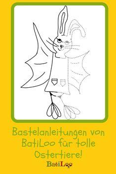 Du willst mit den Kids für Ostern basteln? BatiLoo hat die tollsten Anleitungen für dich! Tricks, Kids Discipline, Cook, Kid Games, Craft Tutorials
