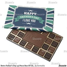 Retro Father's Day 45 Piece Box Of Chocolates