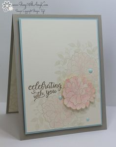 I used the Stampin' Up! So in Love and Falling For Youstamp sets to create my card for the Happy Inkin' Thursday Blog Hop today. We've got a color challenge and thisis what I created for it. Her…