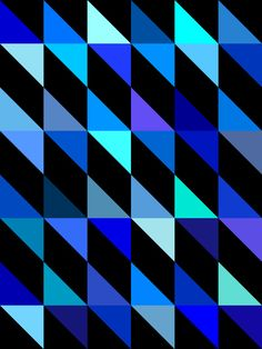 Gary Andrew Clarke geometric purple blue aqua teal turquoise