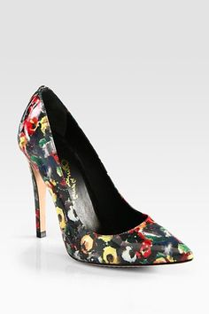 Printed, Patterned Pumps That Pack A Punch