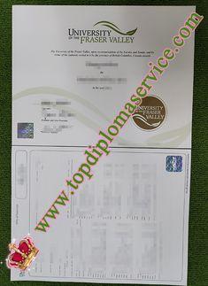 Buy Fake University of the Fraser Valley Degree/Transcript._buy diploma,buy degree,make diploma,make degree Document Printing, University Degree, Fraser Valley, Printing Services, Canada, Feelings, How To Make, Stuff To Buy