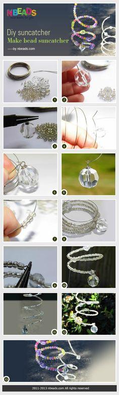 diy suncatcher - make bead suncatcher