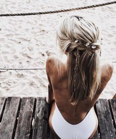 Tiny seashells mixed in for the perfect braid.