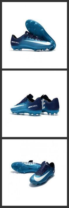 reputable site 2332e 44d92 Nuova Scarpe Da Calcio Nike Mercurial Vapor XI Tech Craft FG Blu Bianco  Cristiano Ronaldo,