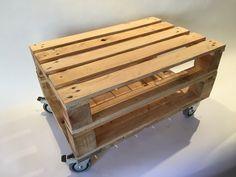 Mesa doble palet con ruedas