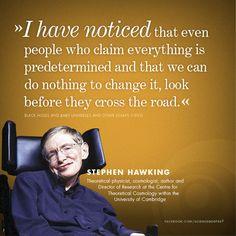 Stephen Hawking on predetermination.