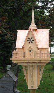 custom birdhouse with copper roof by Joe Danella