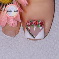 Toe Nails, You Nailed It, Nail Art Designs, Pink Nail, Toenails, Nail Colors, Cute Toe Nails, Little Princess, Nice Nails