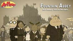 """Check out the Arthur gang in their Downton Abbey-inspired attire! Arthur and his friends have a drama-filled adventure in """"Fountain Abbey"""" on PBS KIDS."""