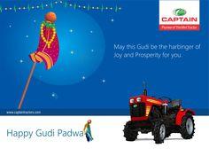 Happy Guddi Padva Wishes from Captain tractor Family