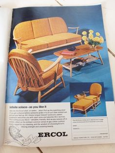 vintage 1960s furniture adverts ercol