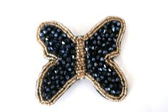 Gorgeous Beads Butterfly Hair pin ** Visit the image link more details. Butterfly Hair, Fabric Beads, Hair Pins, Hair Care, Brooch, Detail, How To Make, Handmade, Beauty