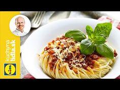 Špagety s omáčkou Bolognese Spaghetti Bolognese, Lidl, Roman, Ham, Cabbage, Vegetables, Ethnic Recipes, Youtube, Food