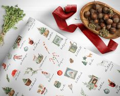 Rustic Winter Pine Wrapping Paper Woodland Wrapping Paper Sheets Holiday Gift Wrap Elegant Wrapping Paper Christmas Wrapping paper roll