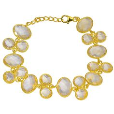 Orchid Jewelry 925 Sterling Silver 56ct TGW Genuine Citrine Bracelet