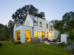 I love the big windows!! Bethesda House by Anne Decker Architects