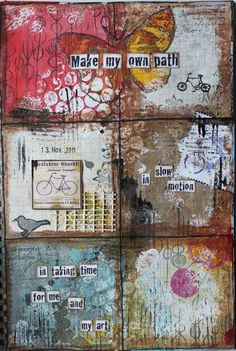 Original pinner sez: You may recall that I recently asked Art Journal Every Day participants to share the story of why they art journal. Today, Stephanie Schütze from Kanton St. Gallen in Switzerland is going to share her story!