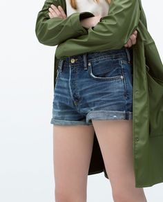 ZARA - REBAJAS - SHORT DENIM
