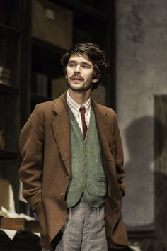 Ben Whishaw in Peter and Alice at the Noel Coward Theatre London, March 2013 director Michael Grandage author John Logan Photo by Johan Perssonhttp://bentfistshaw.tumblr.com/post/46685649964/cartoon-heart-ben-whishaw-and-judi-dench-in