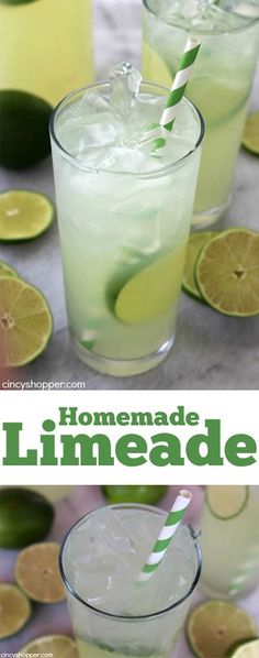 Homemade Limeade- sure to keep you cool and refreshed this summer. The perfect cold, sweet and tangy beverage to enjoy on a hot day. @cincyshopper