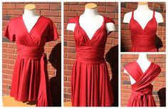 DIY Clothes DIY Refashion DIY Little Red Infinity Dress