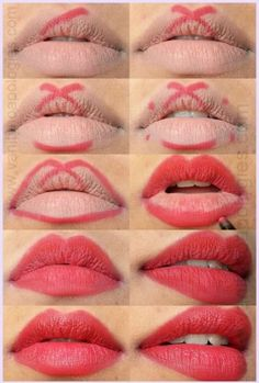 perfect red lips tutorial step by step - Trend Hair Makeup Flawless Skin 2019 Beauty Make-up, Beauty Hacks, Beauty Tips, Beauty Secrets, Natural Beauty, Beauty Products, Natural Makeup, Ikea Products, Beauty Stuff
