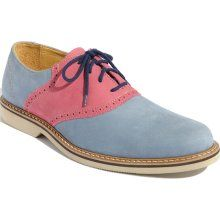 'Saddle Up' Oxford Light Blue/ Pink