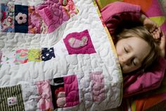 Baby clothes made into big girl quilt