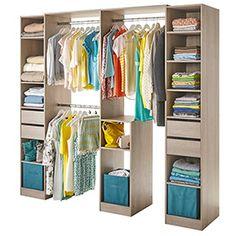 dressing tout en un 200 x 180 x 48 3 cm castorama closet dressing rangements astuces. Black Bedroom Furniture Sets. Home Design Ideas