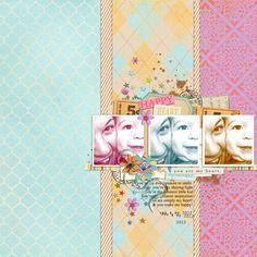 digital scrapbook layout inspiraiton by justagirl