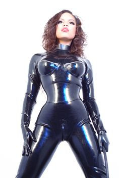 Latex Rubber Fashion catsuits zzz