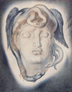 fuckyeahpreraphaelites: Medusa Simeon Solomon
