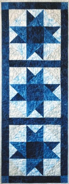 Color Me Blue Runner By Laird, Cathey  - 16in x 44in  Project Time: -2 Hours  Fabric Type: Fat Quarter Friendly  Project Type: Home  Cut Loose Press patterns are available in quantities of 6 or greater, so they are perfect for kits or hosting any size class! Printed on demand, we can handle your class of 7, 22, or 159. Get exactly what you need! Each pattern is customized with your shop's Bill-To account name, phone number, and web site on 8-1/2in x 11in anti-copy card stock. Because they…