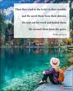 He sent forth his word and healed them; he rescued them from the grave. Psalm 107:20 Verse Of The Day, Psalms, Jesus Christ, Crying, Bible Verses, Sick, Saints, Blessed, Lord