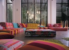 Mah Jong couch from Roche Bobois - I want these - reminds me of my dad - his favorite game.