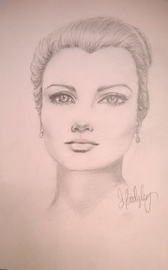 Pencil drawing of Grace Kelly. Strathmore art journal, sketch, drawing faces, art