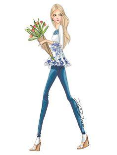 He encontrado este interesante anuncio de Etsy en https://www.etsy.com/es/listing/467330239/fashion-illustration-jeand-and-tulips