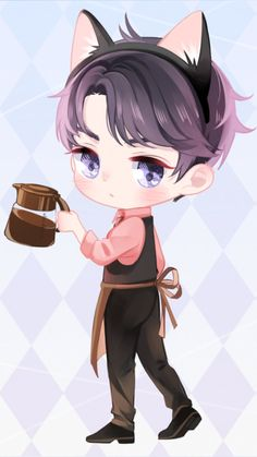 Anime Neko, Kawaii Anime, Chibi Boy, Cute Chibi, Cute Japanese, Japanese Art, I Love Anime, Anime Guys, Dibujos Anime Chibi
