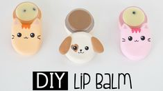 DIY Cat & Dog Lip Balm From Scratch - Chocolate and Cookies & Cream Flavour - YouTube